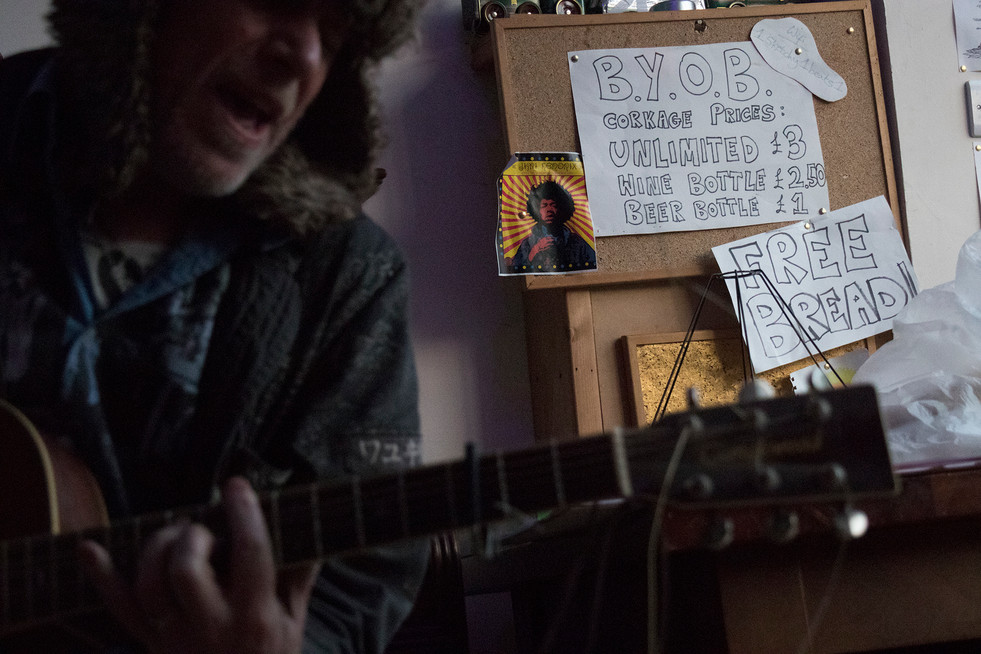 Performer at Sketchy Beats Cafe