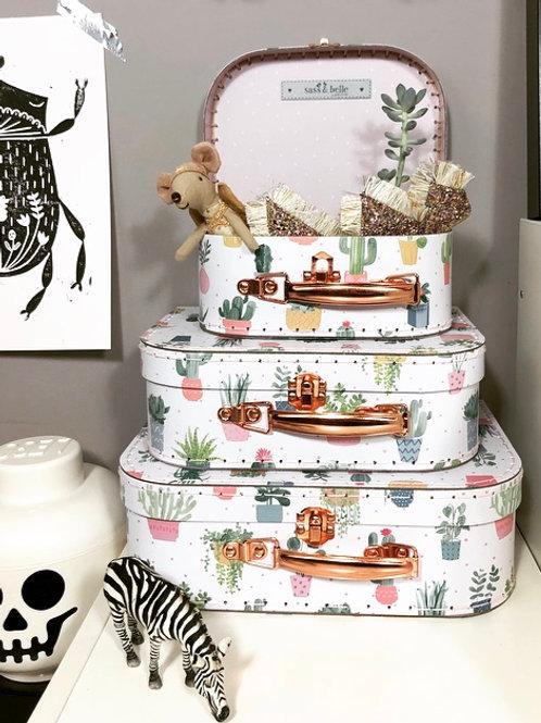 Sass & Belle Cactus suitcase trio
