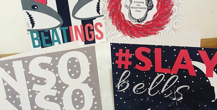 Christmas cards pack of 4