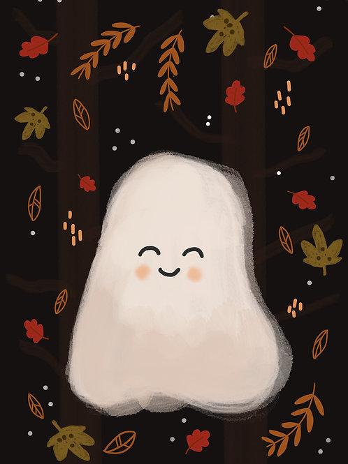Little Woodland Ghost Print