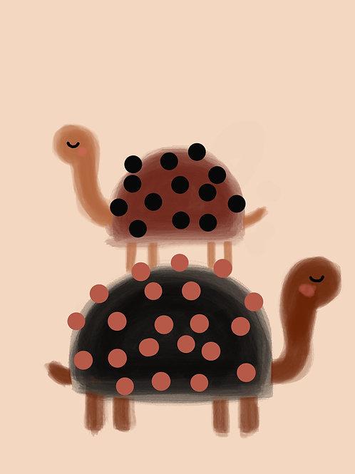 Dotty Tortoises Print
