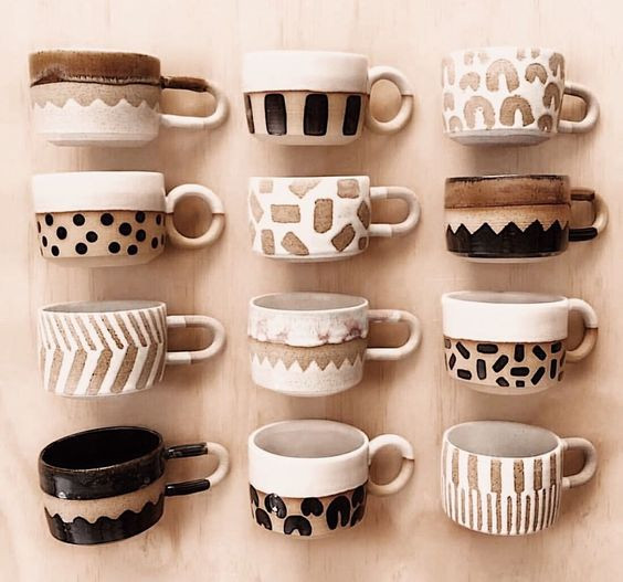Amazing handmade mugs by Earth Interiors