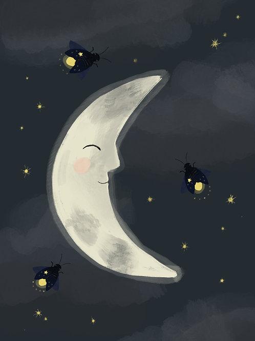 Firefly Moon Print