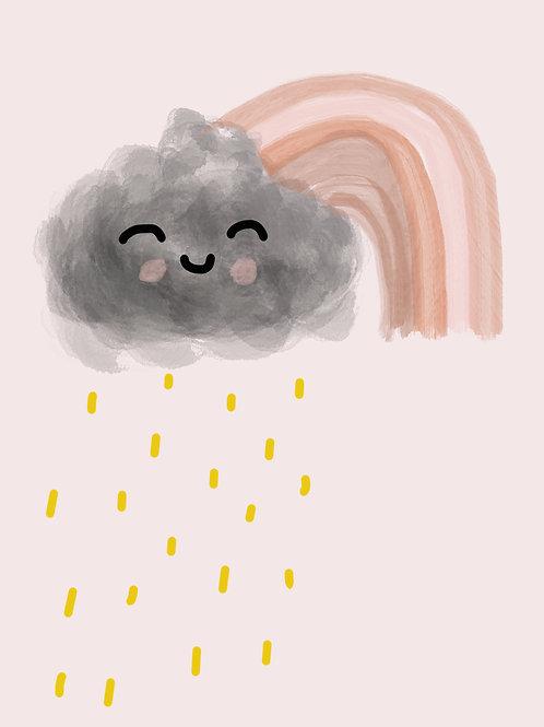 Happy Rainbow Cloud Print