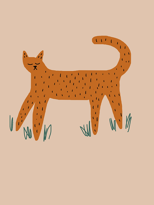 Ginger Tom Print