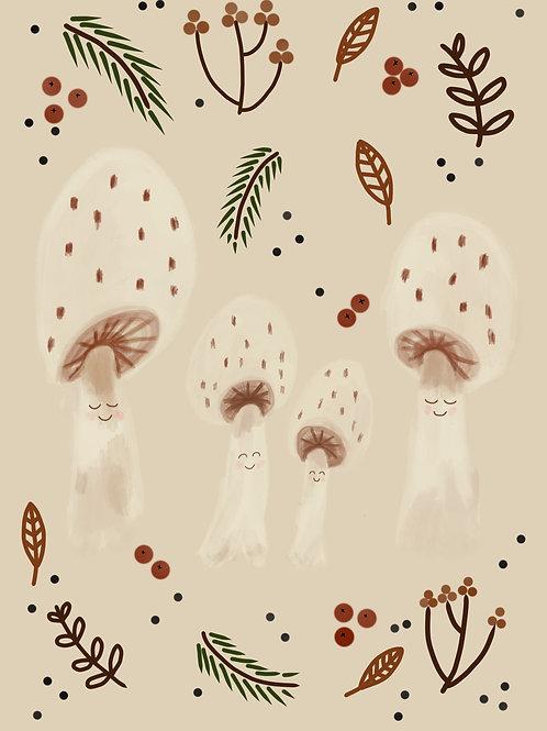 Mushroom Family Print