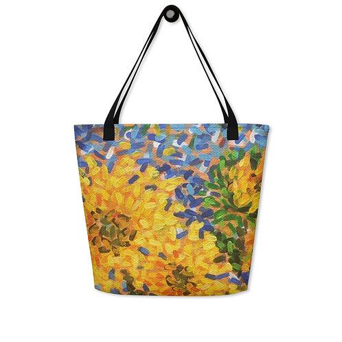 Arti Saxena Sunflower Beach Bag