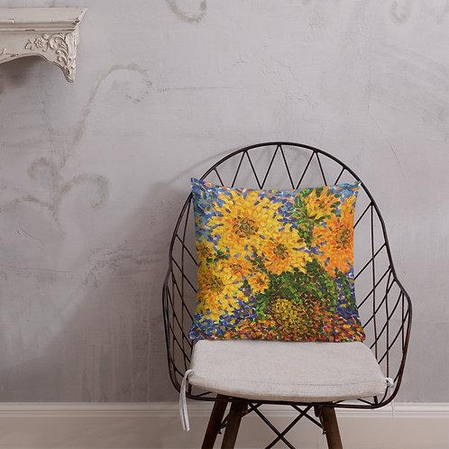 Art Saxena Sunflower Pillow Premium Pillow