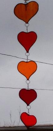 Hanging Hearts Sun Catcher