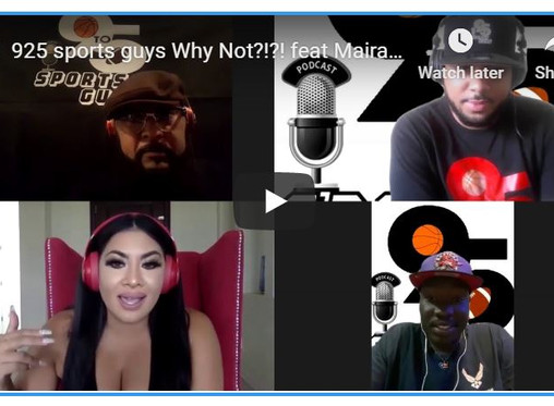 925 sports guys Why Not?!?! feat Maira Garcia from Say it like a champ podcast