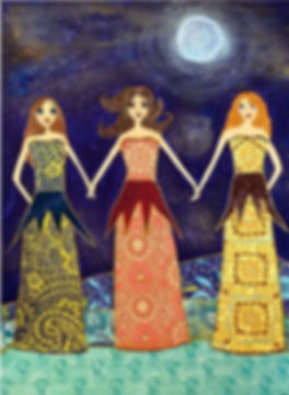 Friendship Sisters Painting Art Print Bl