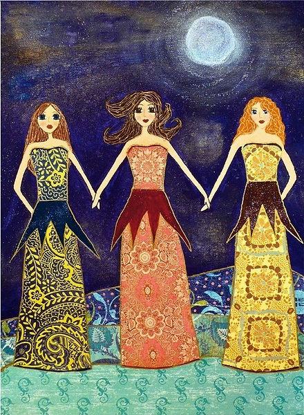 Friendship Sisters Painting Art Print Bl