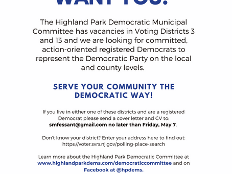 Live in Districts 3 or 13? The HP Dems Want YOU!