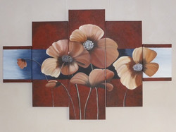bloemen vijfluik