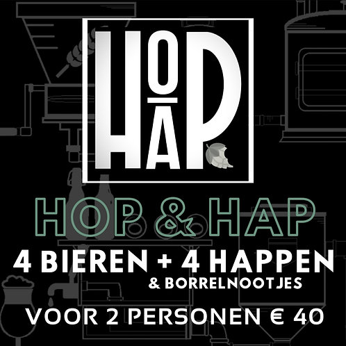 2 pers. Hop & Hap bierproeverij voor thuis