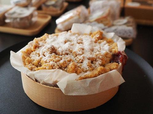 Bosvruchten kruimel-koek-taartje