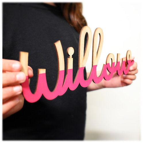 Dipped Script Names - Laser Cut