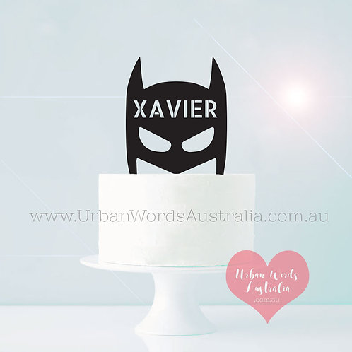 Super Hero Custom Name - Cake Topper