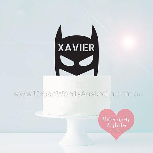 Super Hero Custom Name - Cake Topper