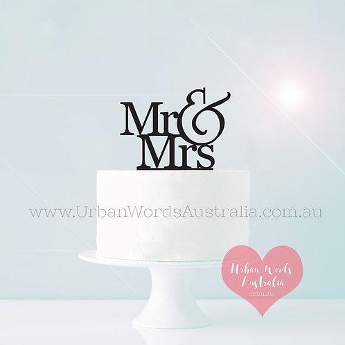 Designer Mr & Mrs - Cake Topper