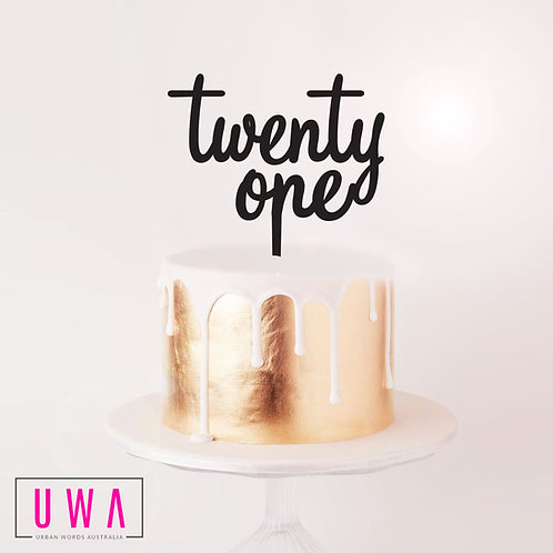 twenty one - Cake Topper