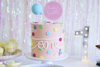Printed name circle Cake Topper