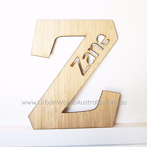 Bamboo Name Letter - Laser Cut