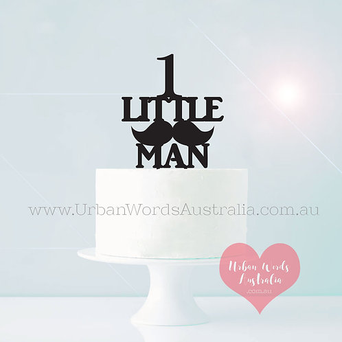 Little Man & Age - Cake Topper