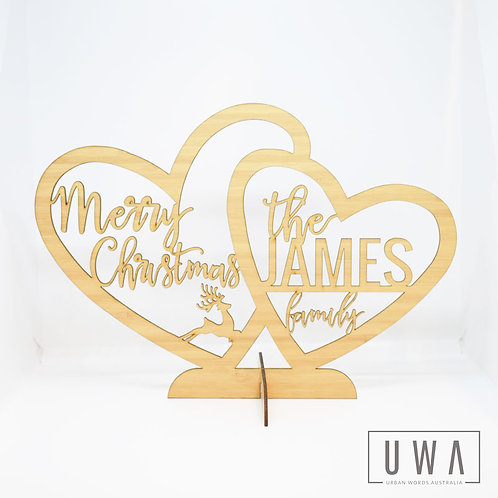 Personalised Christmas Family Heart