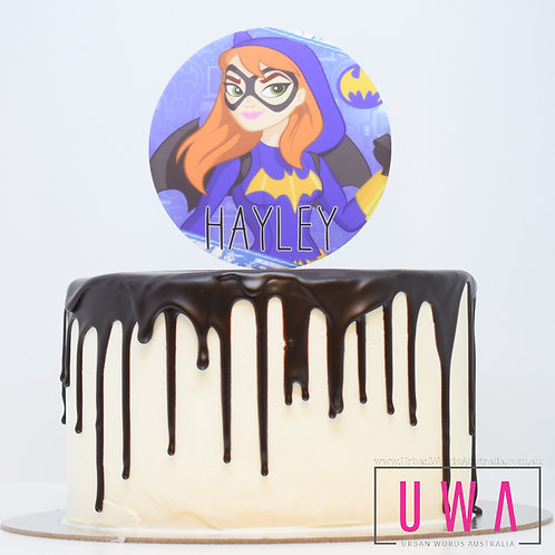 Bat Girl - Personalised Cake Topper