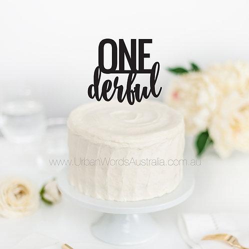 ONE Derful - Cake Topper