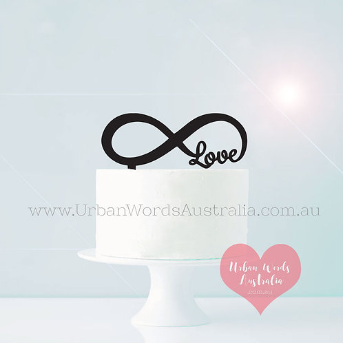 Infinity Love - Cake Topper