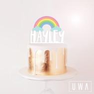 Rainbow Printed Cake Topper
