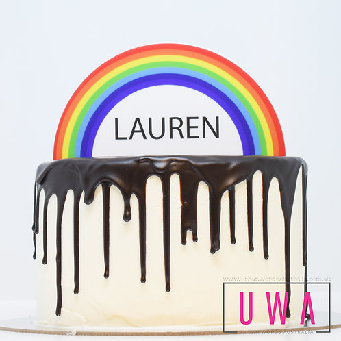 Rainbow - Personalised Cake Topper