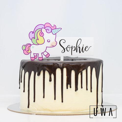 Unicorn - Personalised Cake Topper
