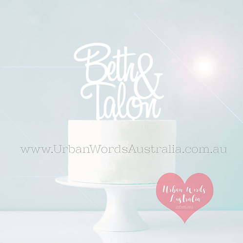Personalised Name & Name - Cake Topper