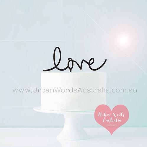 love - Cake Topper