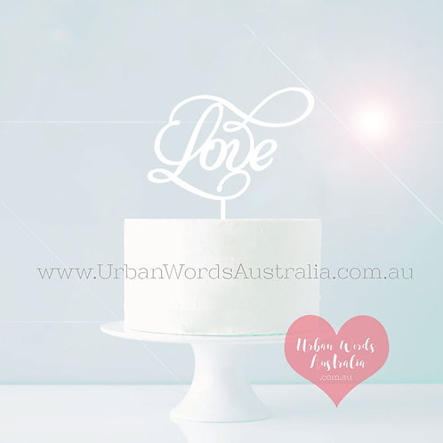 Love Swirl - Cake Topper