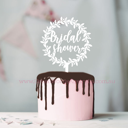 Bridal Shower Wreath - Cake Topper
