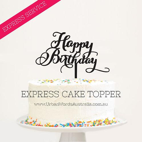 EXPRESS - Happy Birthday - Swirly
