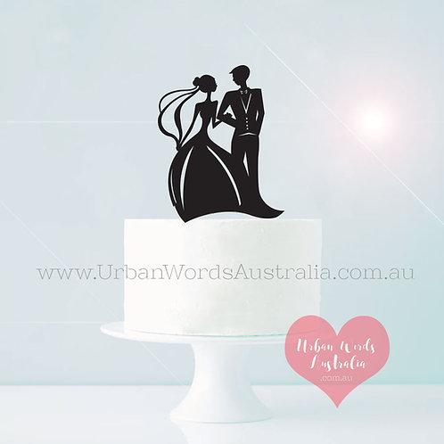 Formal Bride & Groom - Cake Topper