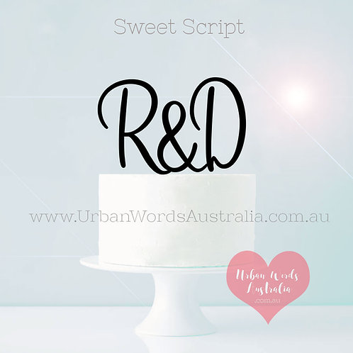 Custom Initials Set - Cake Topper