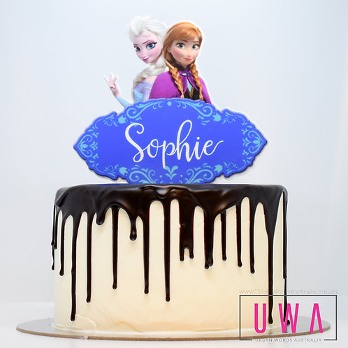 Frozen - Sisters - Personalised Cake Topper