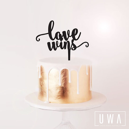 Love Wins - Cake Topper