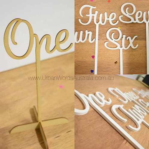 Mdf Sweet Font Wooden Number Set (1-10)