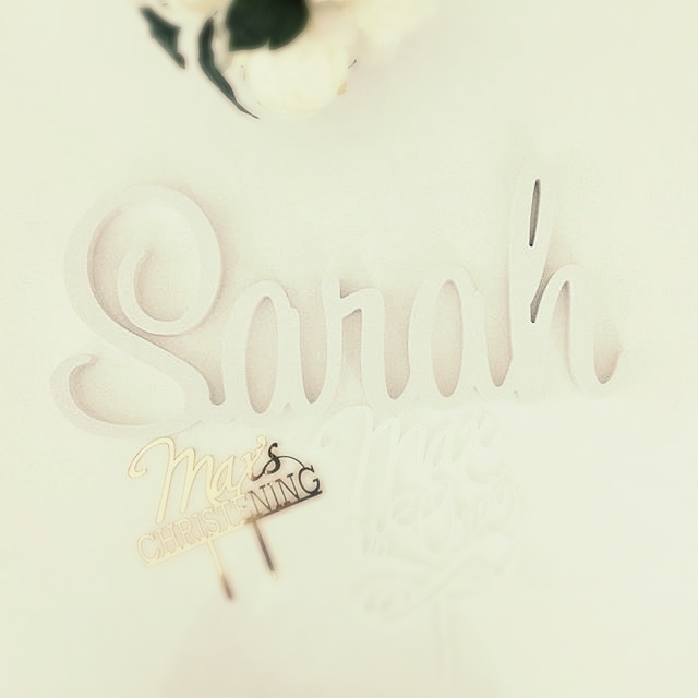 Custom White Name Sign