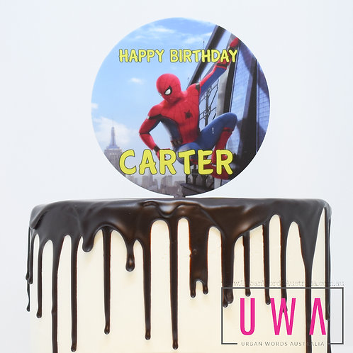 Spider Man - Personalised Cake Topper