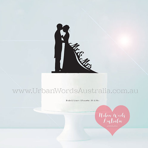 Silhouette Mr & Mrs - Cake Topper