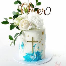 Gold Mirror Oliver Cake Topper