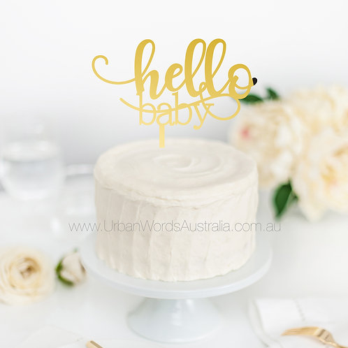 Hello baby - Cake Topper